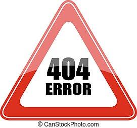 404 error sign