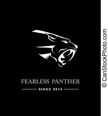 Black Panther Head. Black Panther Head combine with text....