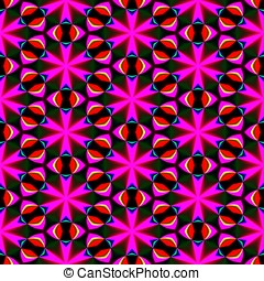 kaleidoscopic, seamless, Padrão,