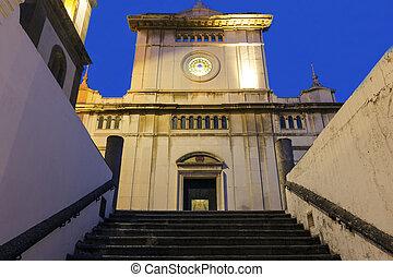 The church of Santa Maria Assunta, Positano, Italy - The...