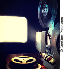 Old Film Projector - Toned Photo of the Old Film Projector...