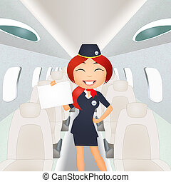 Flight Attendant - illustration of flight Attendant