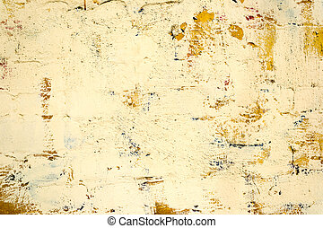 Yellow Concrete Wall Texture - Yellow old dirty concrete...