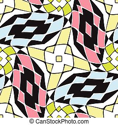 twisted squares pattern