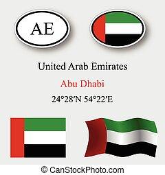 united arab emirates icons set