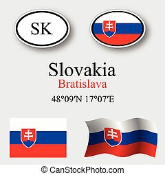 slovakia icons set