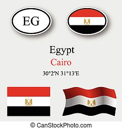 egypt icons set