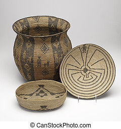 hand woven Native American baskets