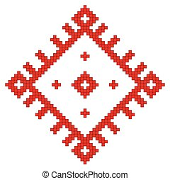 ukrainian ethnic folk pattern on white background. Vector