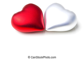 Pair of decoration hearts emotional love symbol gift for...