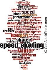 Speed skating-vertical Convertedeps - Speed skating word...