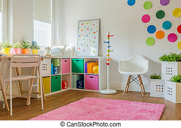 Unisex kids room - Idea for colorful designed unisex kids...