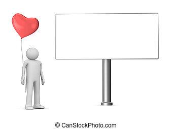 Baloon man billboard copyspace