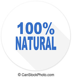 natural flat design modern icon with long shadow for web and...
