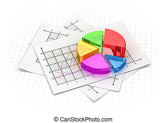 Business pie chart , This is a computer generated and 3d...