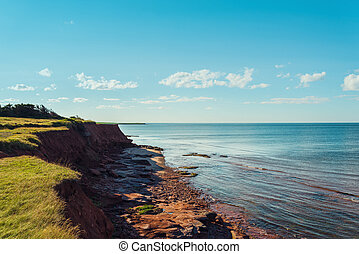 Red Cliffs near East Point Lighthouse (Point East Coastal...