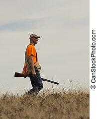 faisão, caçador