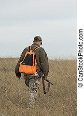 pássaro, caça,