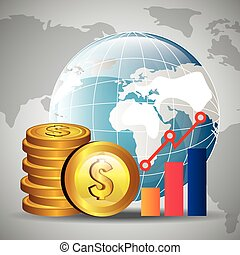 Global economy design, - Global economy money design, vector...