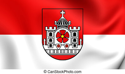Flag of Detmold City North Rhine-Westphalia, Germany - 3D...