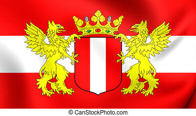 Flag of Dordrecht City, Netherlands. - 3D Flag of Dordrecht...