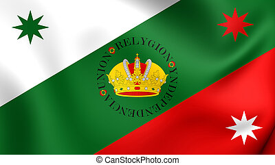 Flag of Mexican Regency First Flag of the Mexican Empire -...