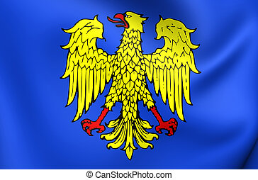 Flag of Friuli Region, Italy - 3D Flag of Friuli Region,...