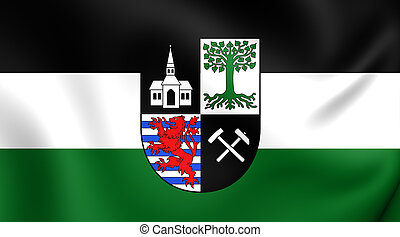 Flag of Gelsenkirchen City North Rhine-Westphalia, Germany -...