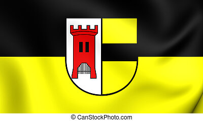 Flag of Moers City North Rhine-Westphalia, Germany - 3D Flag...