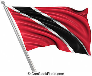 Flag of Trinidad and Tobago , This is a computer generated...
