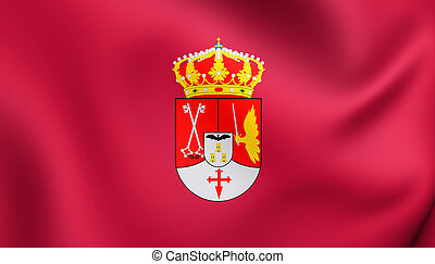 Flag of Albacete Province, Spain. - 3D Flag of Albacete...