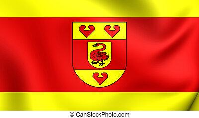 Flag of Steinfurt Kreis North Rhine-Westphalia, Germany - 3D...