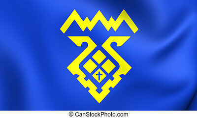 Flag of Tolyatti City Samara Oblast, Russia - 3D Flag of...