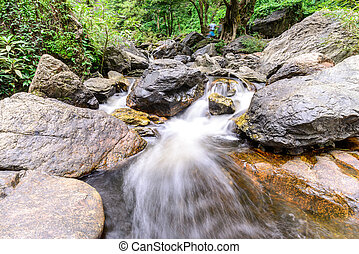 Khlong Lan waterfall in national park, Kamphaeng Phet...