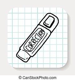 correction pen doodle