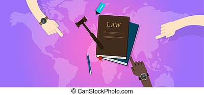 international law legal justice global world gavel court...