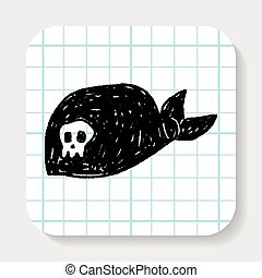 pirate hat doodle