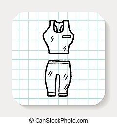 sport clothes doodle