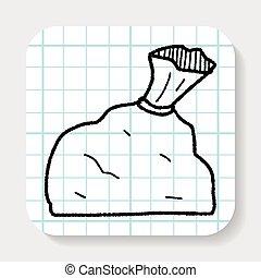 trash bag doodle