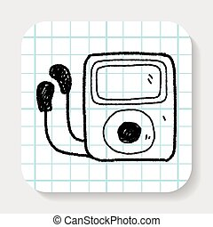mp3 player doodle