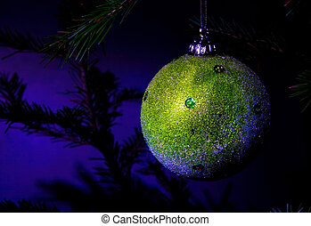 christmas decoration on a dark blue background