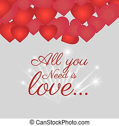 Love card design with red details - Love card design with...