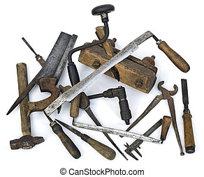 Old Carpenter Tools - Pile of Old Carpenter Tools