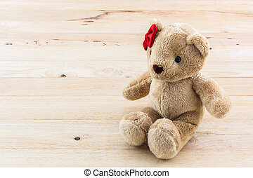 Classic teddy bear red bow - Classic teddy bear red bow toy...