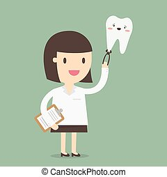 Female Dentist, vector illustration