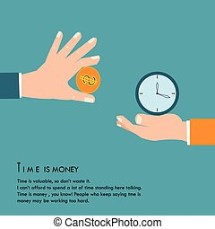 Time is money. - Time is money, concept