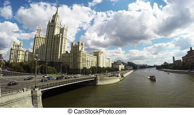Skyscraper on Kotelnicheskaya embankment in Moscow - One of...