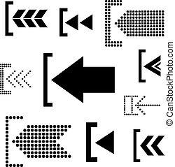 Vector arrow icon