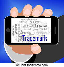 Trademark Word Shows Proprietary Name And Hallmark -...