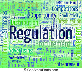 Regulation Word Indicates Ruling Rules And Statute -...